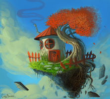 Floating island by DrManiacal