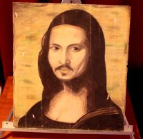 Mona Lisa with Johnny Depp's face. by sashadawn