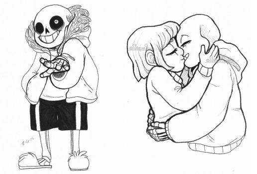 Sans and Smooches by WhisperSeas
