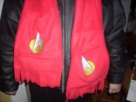 Star Trek red scarf by spotsandpatches