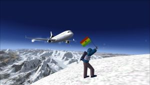 MD-11 buzzing the Mount Everest climber - FSX by HYPPthe