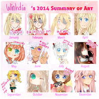 2014 Summary of Art by Winhdia