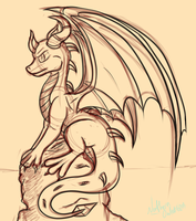 Spyro Sketch by AC-whiteraven