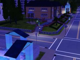 Sims 3 - Violet rode herself home late by Magic-Kristina-KW