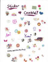 AmiYumi Sticker Central by DarkRoseDiamond123