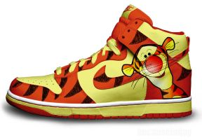 Tigger Nike Dunks by becauseimjay