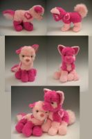 Pink Teddy Dogs by WhittyKitty
