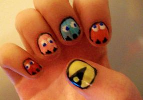 Pacman Nails by kaylamckay