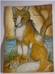 Fuegian dog ACEO by DiardiWolf