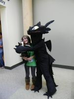 Hiccup and Toothless by VampricHayles