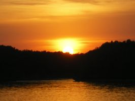 Sunset over Danube - I by Tornquist