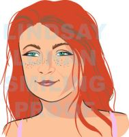 Lindsay Lohan caricature by vrm1979