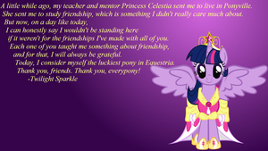 Magical Mystery Cure Quote Wallpaper by Shadowhedgiefan91