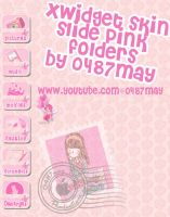 slide pink folders, Xwidget skin by may0487