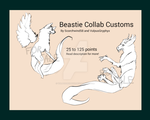 Advertisement - Beastie Collab Customs - OPEN by VulpusGryphyx