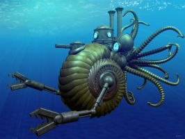 Steampunk Nautilus by e47art