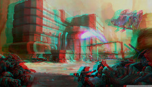 Halo 3 Odst 3D Anaglyph Red Cyan by Fan2Relief3D