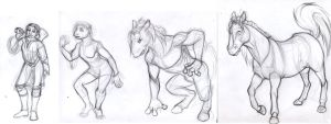 Commission - Crissa sketches by leighanief