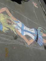 Lucy from Fairy Tail Chalk by TuDoRlUcIa