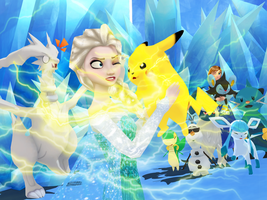 MMD Frozen-PKMN - Electric friendship by JackFrostOverland