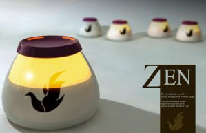 Zen candle by WeeDovnjak