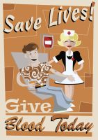 Save Lives! Give Blood Today by LarsLasse