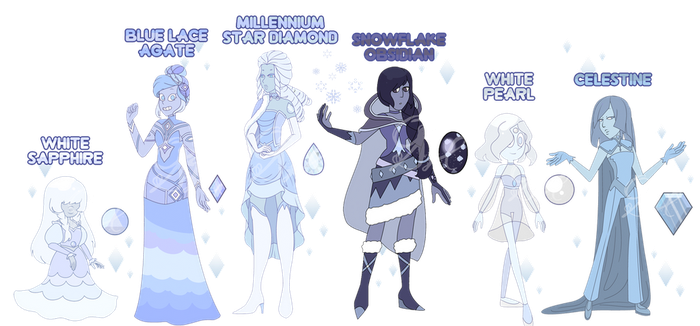 Winter Gemsona Adopts (CLOSED) by OriSODEhime