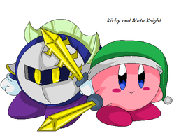 Kirby and meta knight by MetaKnight92
