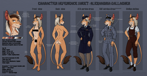 Character Reference Sheet: Alexandria Gallagher by Amaryllex
