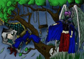 Sorcerer By The Woods In Color by DKayCrafts