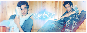 Matthew Gray Gubler Sign by ManonGG