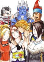 Final Fantasy X characters by Nayawinden