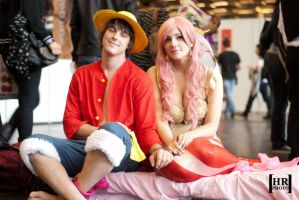 Luffy and Shirahoshi by MadeInHeaven1979