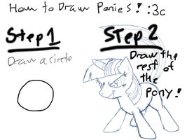 Drawing ponies is easy by TanMansManTan