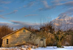 Cheam Mountain and Barn by JoeJoeBob