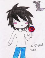 Lawliet Lollypop by Nombee-Zombie