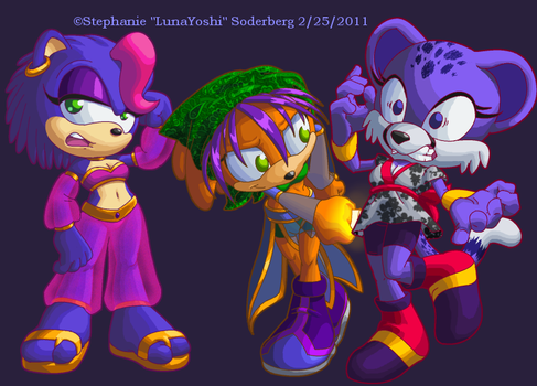 Sonic: Hand tazers and hilarity by LuLuLunaBuna