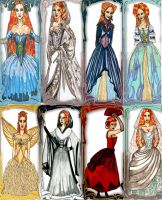 Christine Daae Costume Designs by InkyRose