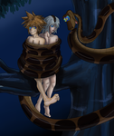 Sora and Riku In Kaa's Coils Again by jdashe