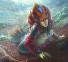 DotA 2, Naga Siren / 3 by DariaDesign