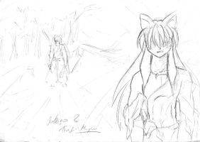 Inu art draft One by hakeshsama