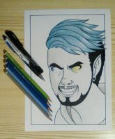 I AM HERE NOW - Antisepticeye by Lashu16