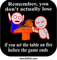 Don't lose, set the table on fire! by flowofwoe