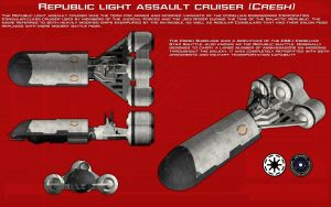 Republic light assault cruiser (Cresh) ortho [New] by unusualsuspex