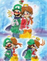 Mario: Mistletoe Customs by saiiko