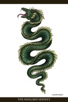 The Midgard Serpent (Tattoo Commission) by CharlottaBavholm