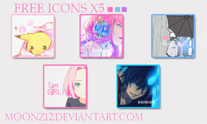 Free Icons x5. by MoonZ12