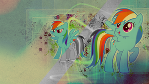 Wallpaper: Rainbow Dash by MadBlackie