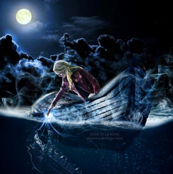 Emma rescues Killian from the Styx by LaLaMora