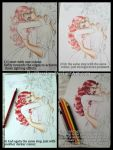 Tutorial-Colouring Hair - Colourpencils by RedPassion